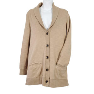 JCrew Rumpled French Terry Cardigan Size Small